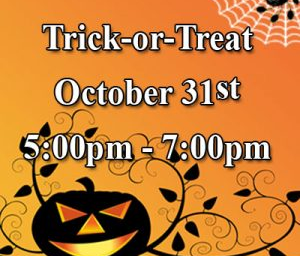 Trick or Treat October 31st